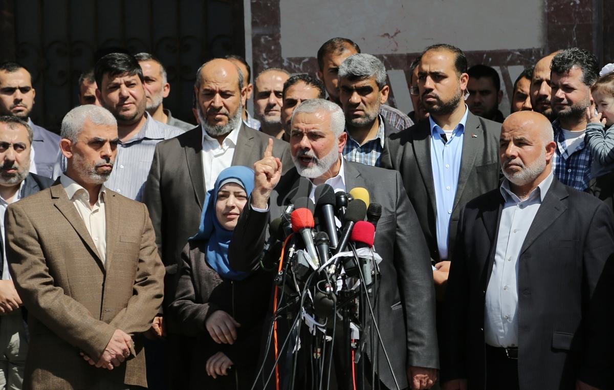 مؤتمر صحفي لقادة حماس في غزة للإعلان عن اعتقال قاتل الشهيد مازن فقها (7)