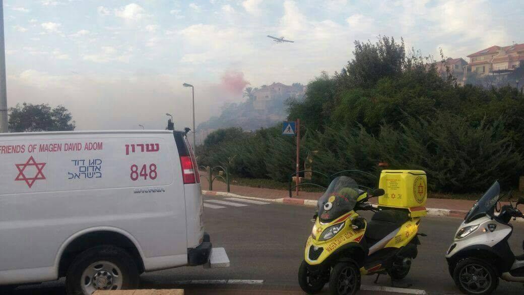 الحرائق المشتعلة في #حيفا المحتلة (39191043) 