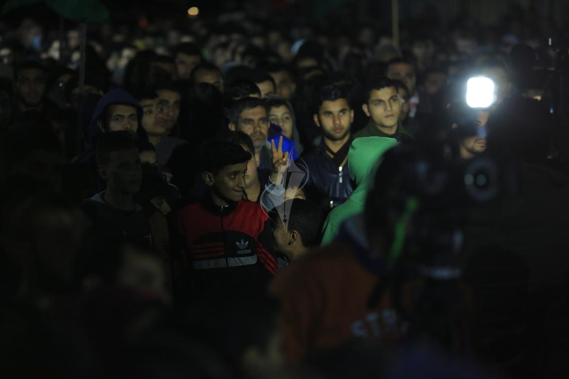 حماس تنظم مسيرة نصرة للقدس ورفضاً للقرارات الأمريكية شمال القطاع (38601224) 