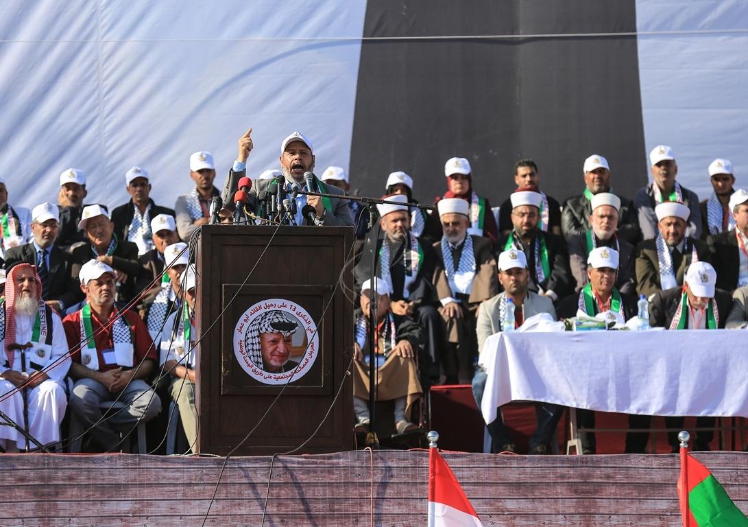 مهرجان احياء الذكرى الـ13 لاستشهاد الرئيس ياسر عرفات في ساحة الكتيبة غرب مدينة غزة (37683736) 