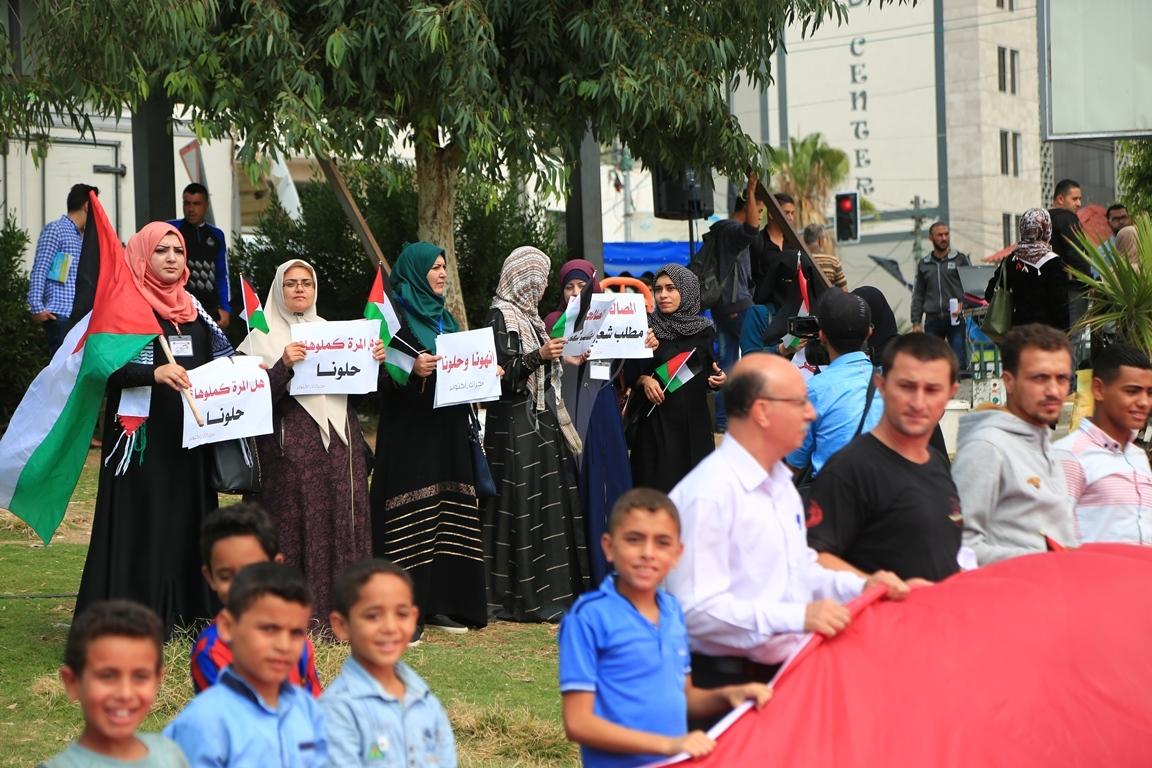 وقفات في غزة لدعم جلسات المصالحة الفلسطينية وإنهاء الانقسام التي تجري في القاهرة (39191048) 
