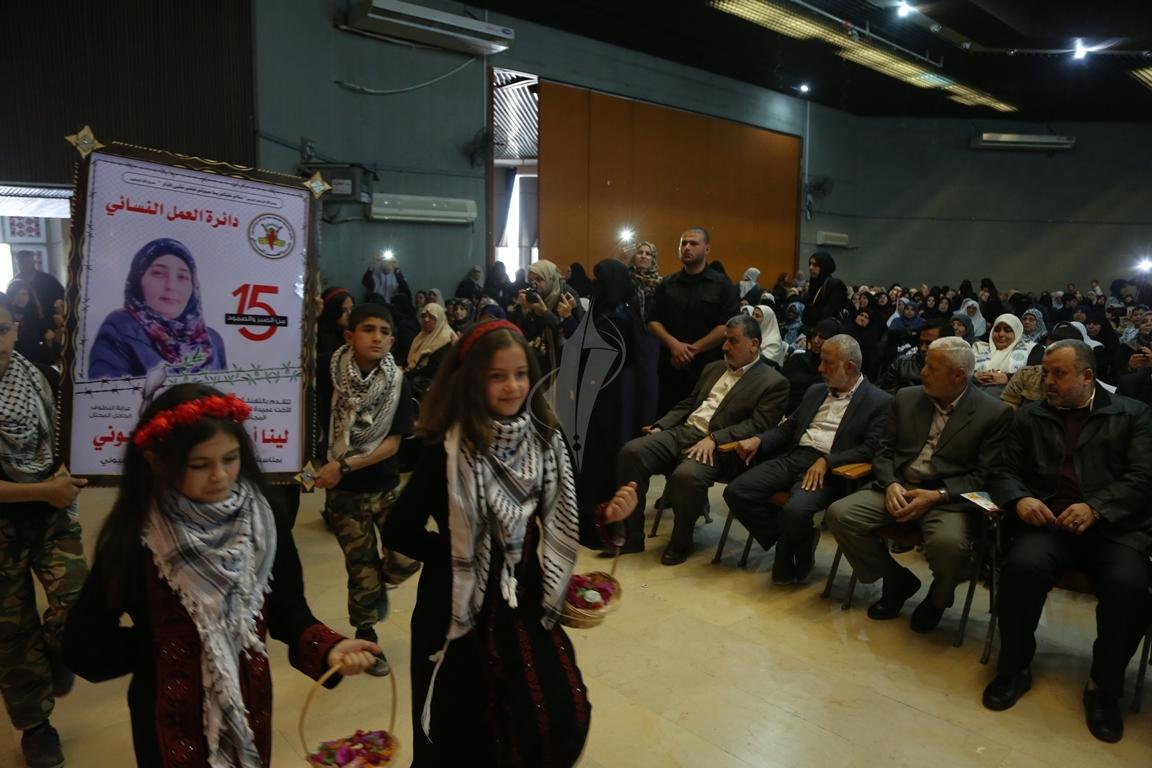 مهرجان تكريمى للمحررة  لينا الجربونى بغزة (27)