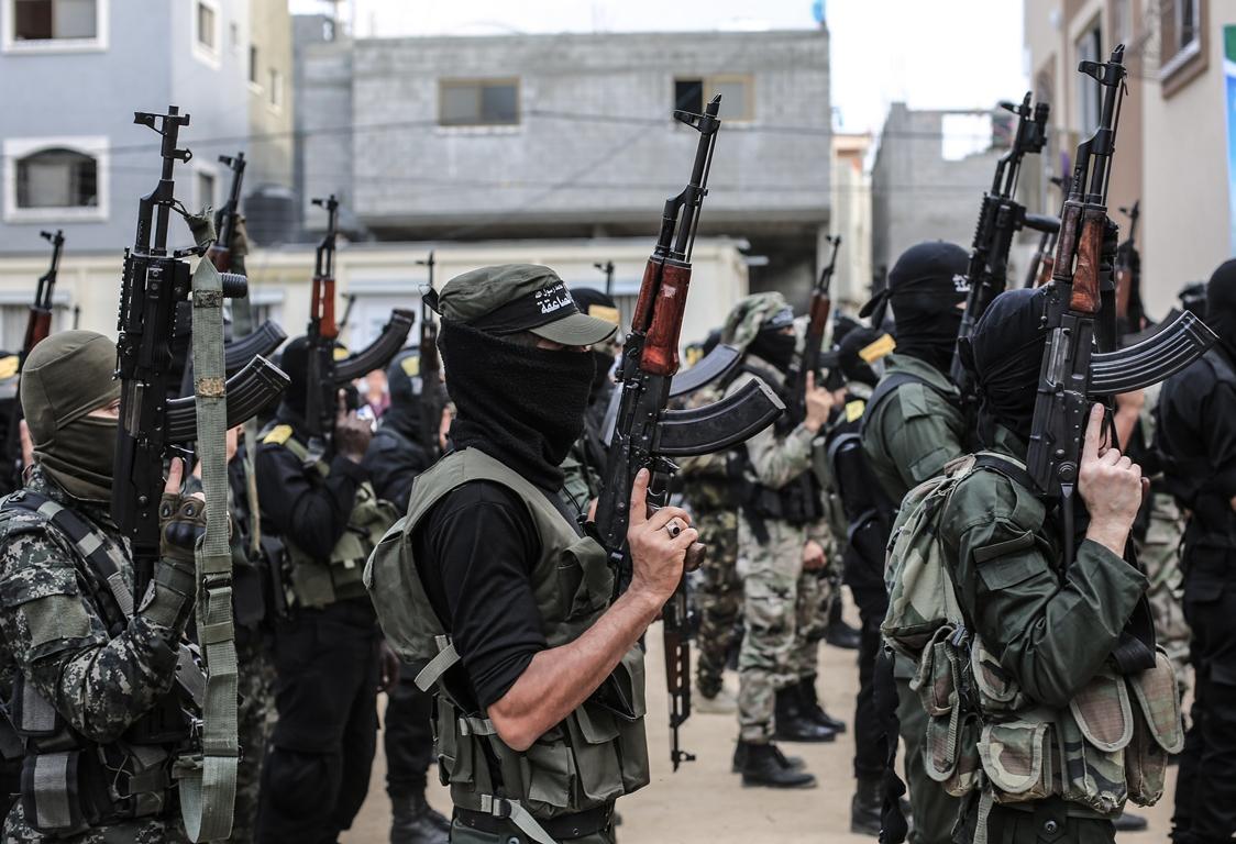 مسير عسكري لفصائل المقاومة بغزة في الذكرى الخامسة لاغتيال الجعبري (37552646) 