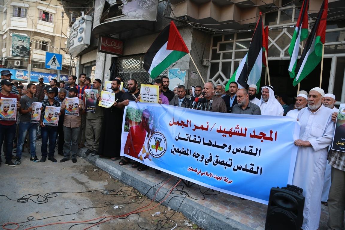 قفة في مدينة غزة احتفاء بالعملية البطولية بالقدس  (39780873) 
