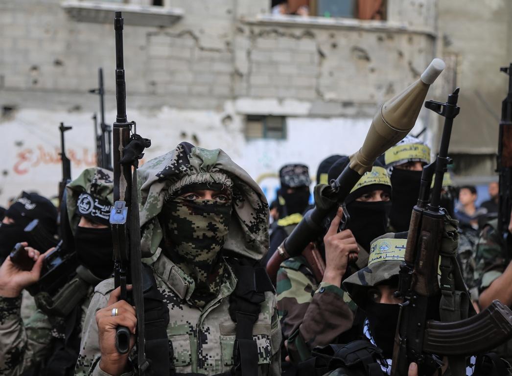 مسير عسكري لفصائل المقاومة بغزة في الذكرى الخامسة لاغتيال الجعبري (37552644) 