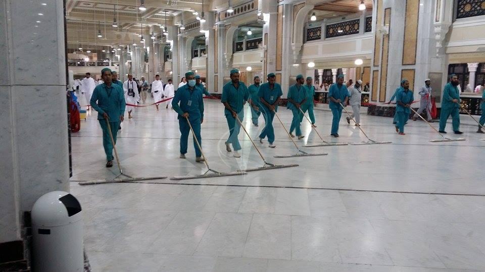 نتيجة بحث الصور عن تنظيف المسجد الحرام