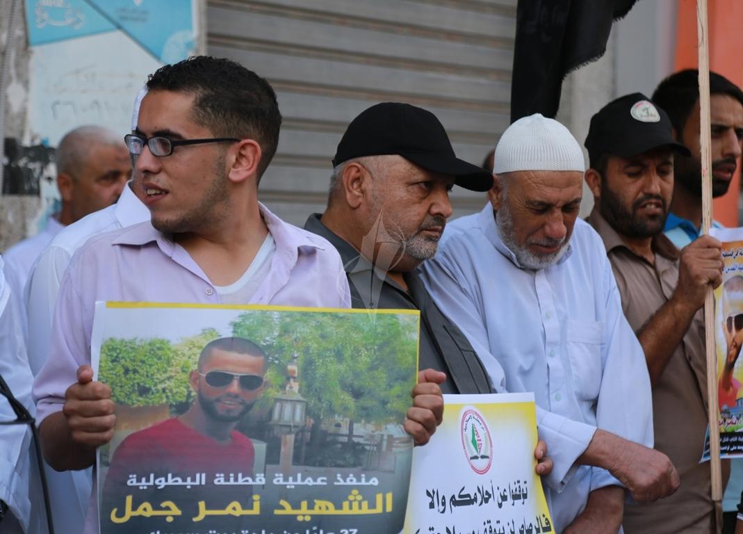 قفة في مدينة غزة احتفاء بالعملية البطولية بالقدس  (1)