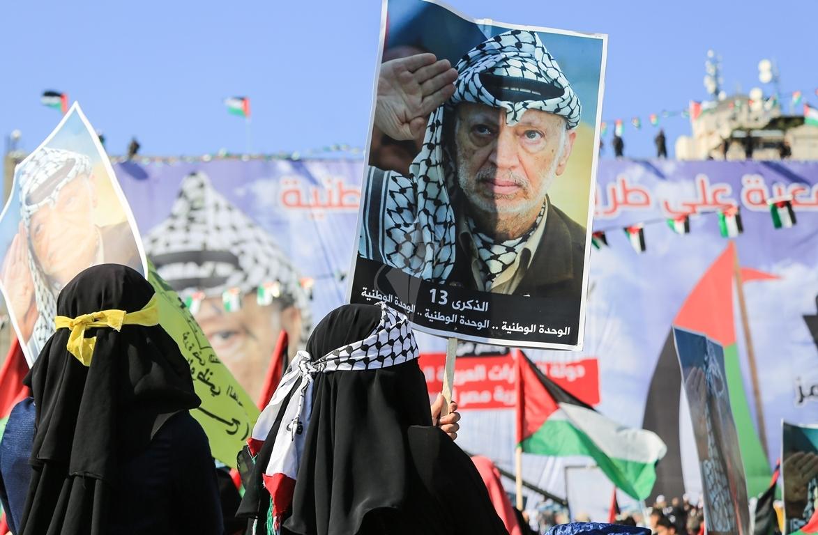 مهرجان احياء الذكرى الـ13 لاستشهاد الرئيس ياسر عرفات في ساحة الكتيبة غرب مدينة غزة (37683719) 