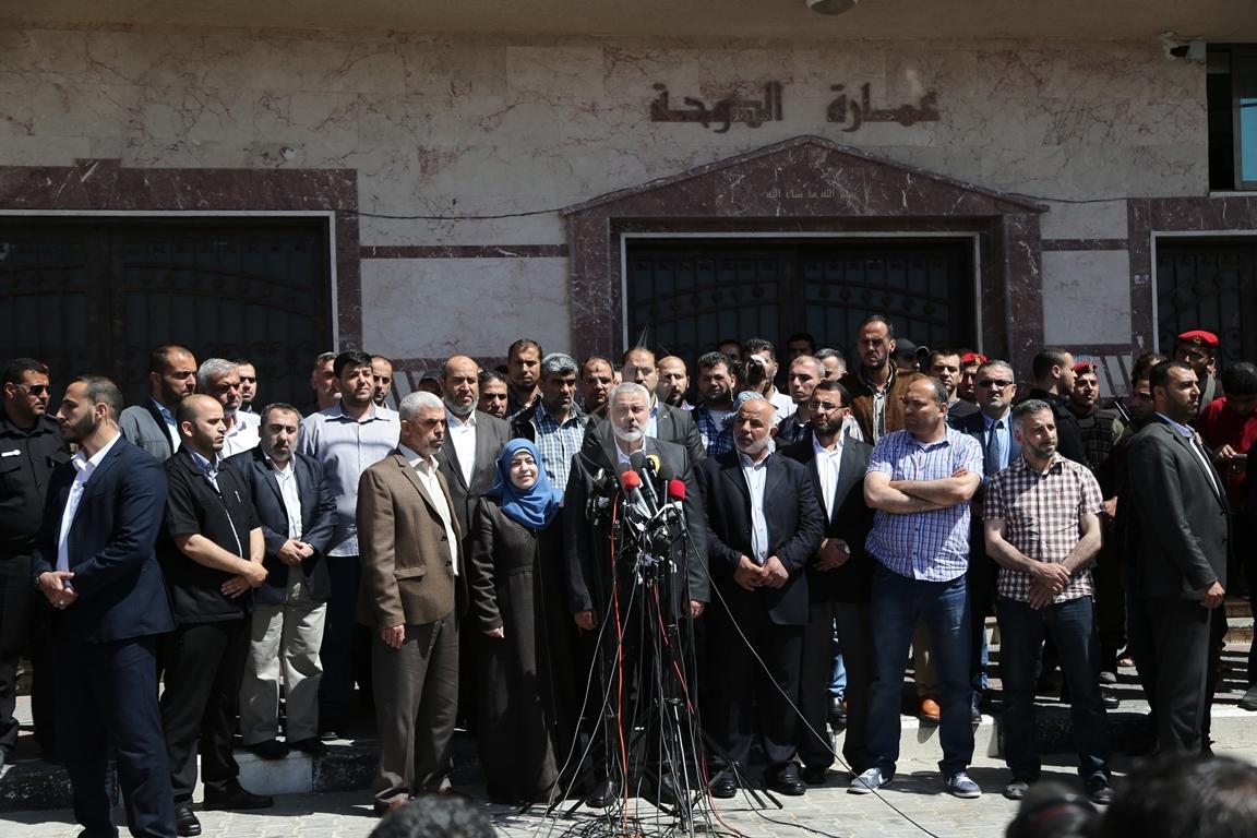 مؤتمر صحفي لقادة حماس في غزة للإعلان عن اعتقال قاتل الشهيد مازن فقها (3)