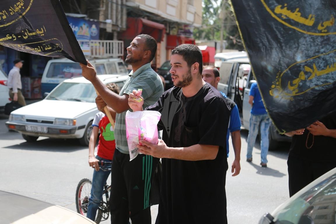 قفة في مدينة غزة احتفاء بالعملية البطولية بالقدس  (39780881) 
