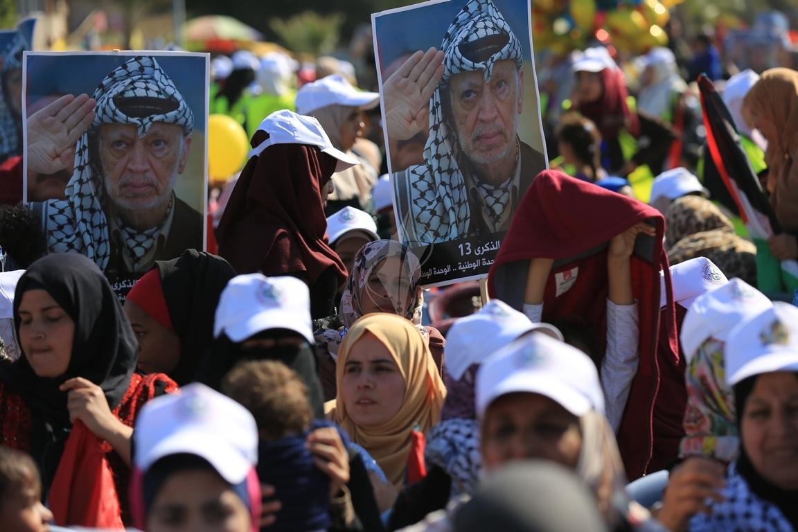 مهرجان احياء الذكرى الـ13 لاستشهاد الرئيس ياسر عرفات في ساحة الكتيبة غرب مدينة غزة (37683714) 