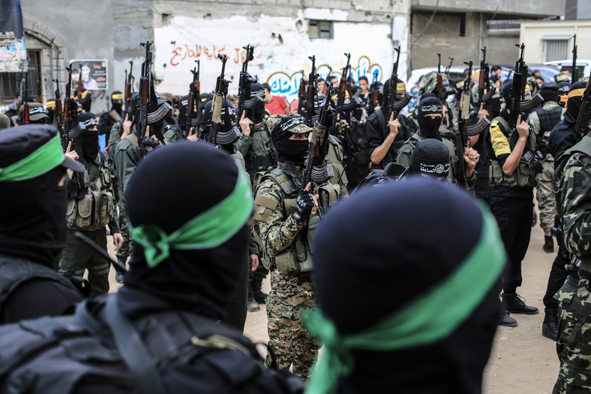 مسير عسكري لفصائل المقاومة بغزة في الذكرى الخامسة لاغتيال الجعبري (37552645) 