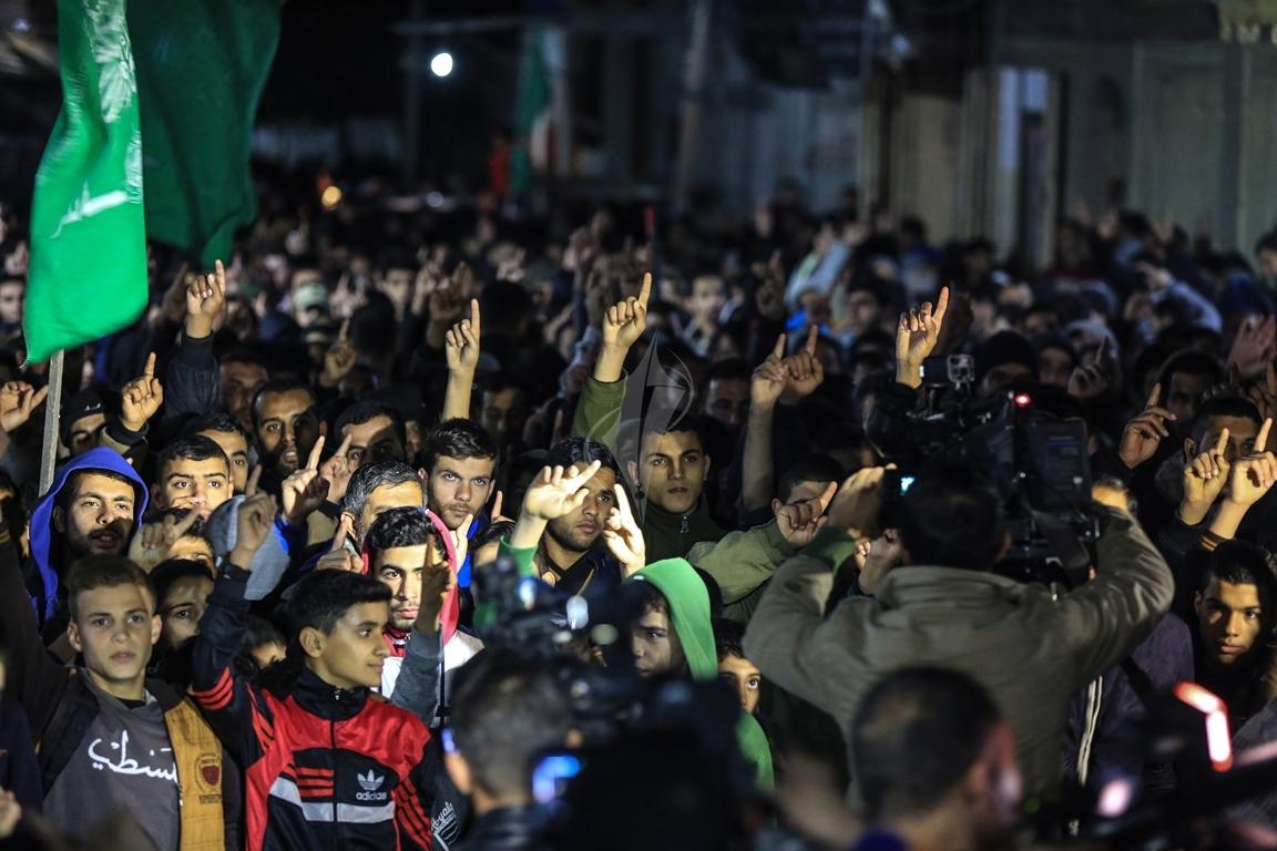 حماس تنظم مسيرة نصرة للقدس ورفضاً للقرارات الأمريكية شمال القطاع (38601225) 