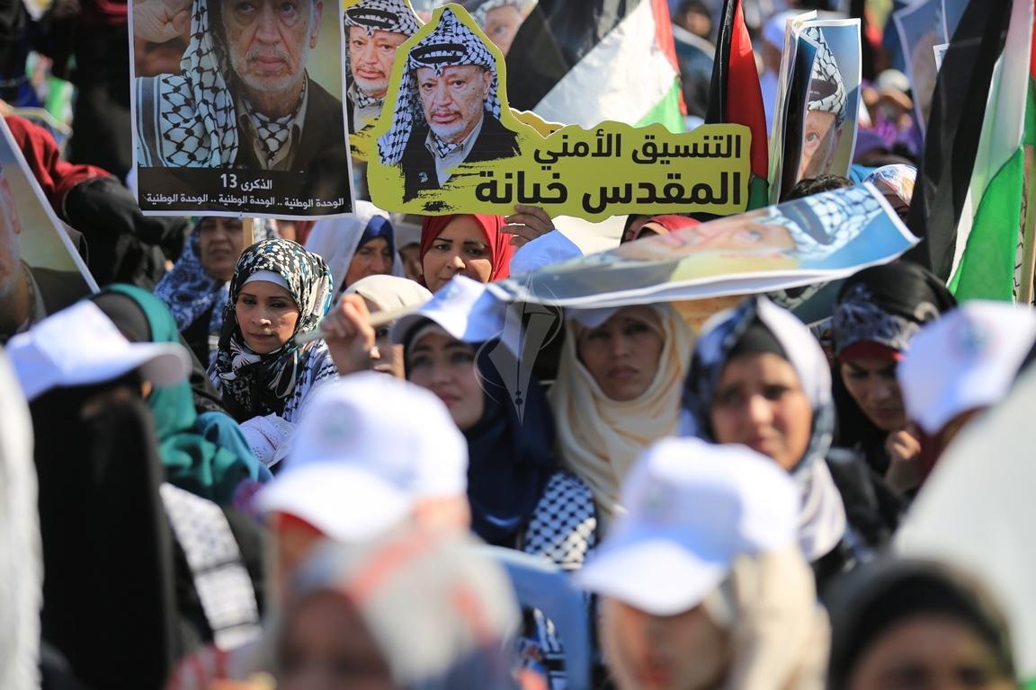مهرجان احياء الذكرى الـ13 لاستشهاد الرئيس ياسر عرفات في ساحة الكتيبة غرب مدينة غزة (37683728) 