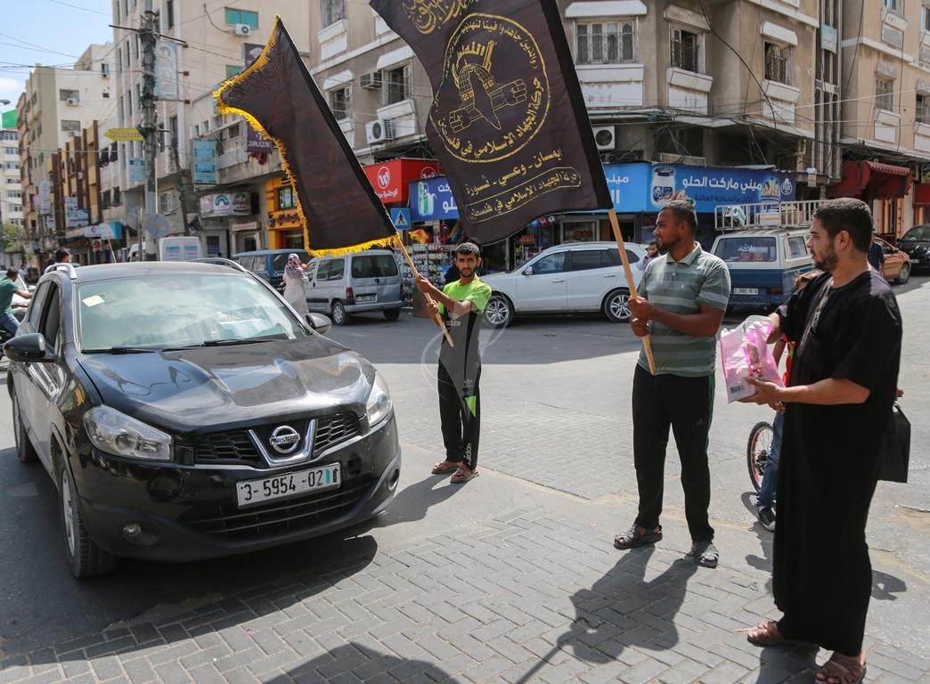 قفة في مدينة غزة احتفاء بالعملية البطولية بالقدس  (39780882) 