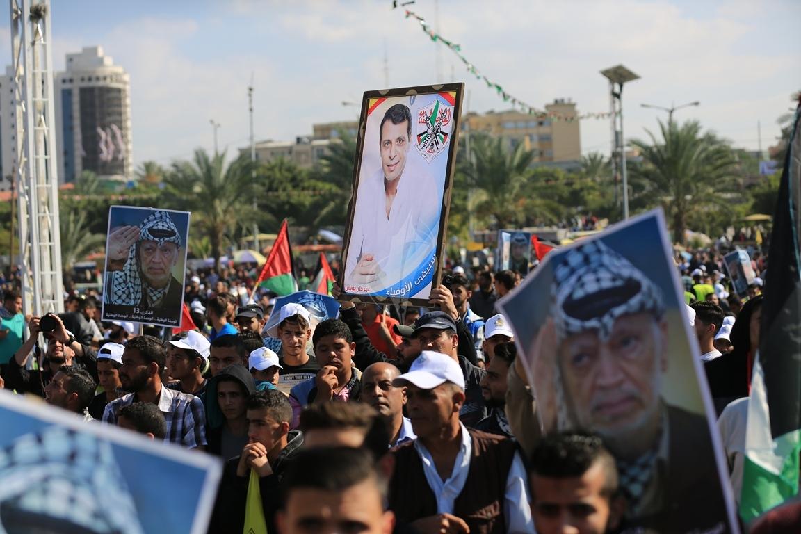 مهرجان احياء الذكرى الـ13 لاستشهاد الرئيس ياسر عرفات في ساحة الكتيبة غرب مدينة غزة (37683717) 