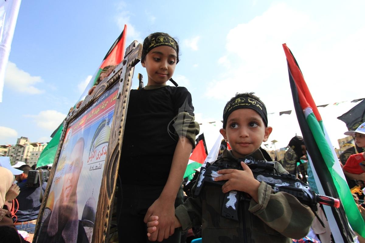 أشبال وزهرات سرايا القدس الانطلاقة الجهادية (29681047) 