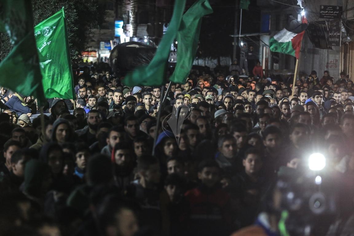 حماس تنظم مسيرة نصرة للقدس ورفضاً للقرارات الأمريكية شمال القطاع (38601223) 