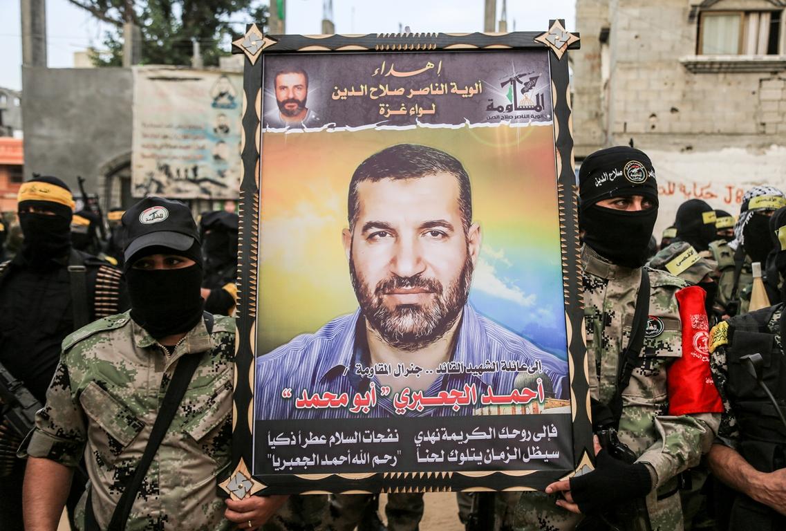مسير عسكري لفصائل المقاومة بغزة في الذكرى الخامسة لاغتيال الجعبري (37552647) 