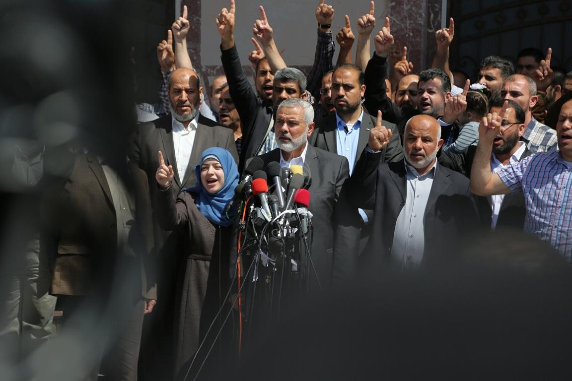 مؤتمر صحفي لقادة حماس في غزة للإعلان عن اعتقال قاتل الشهيد مازن فقها (5)