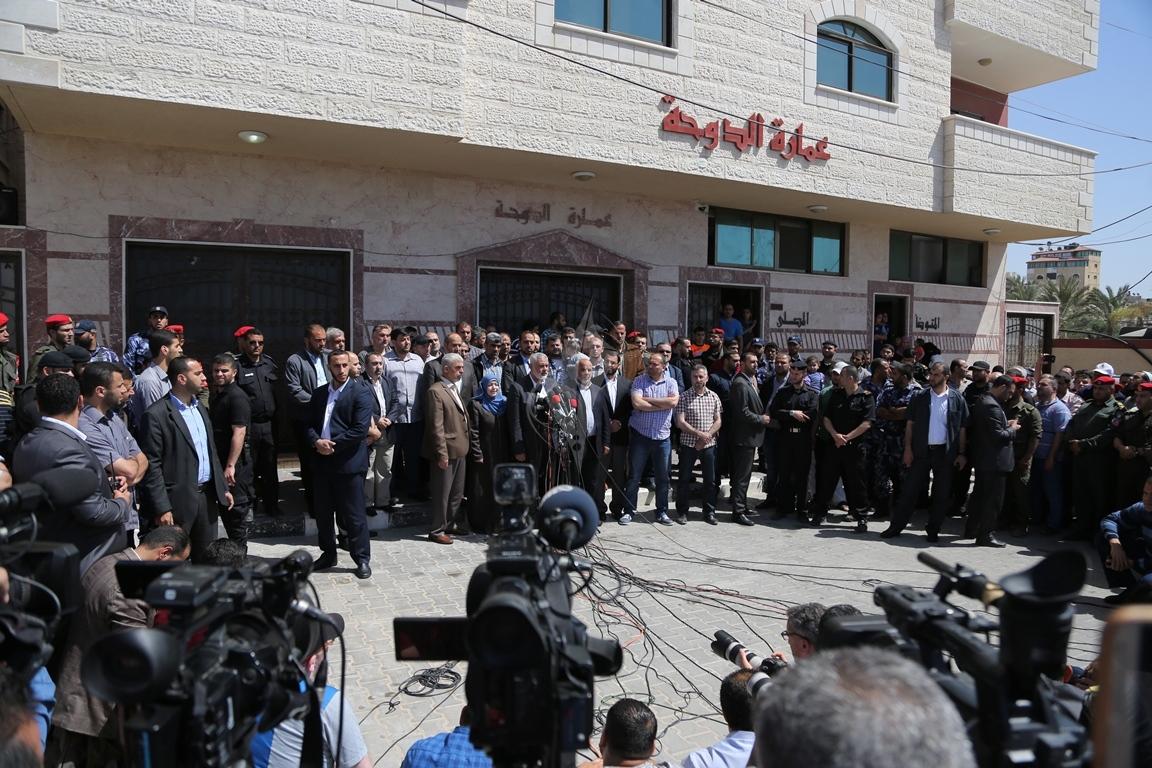 مؤتمر صحفي لقادة حماس في غزة للإعلان عن اعتقال قاتل الشهيد مازن فقها (4)