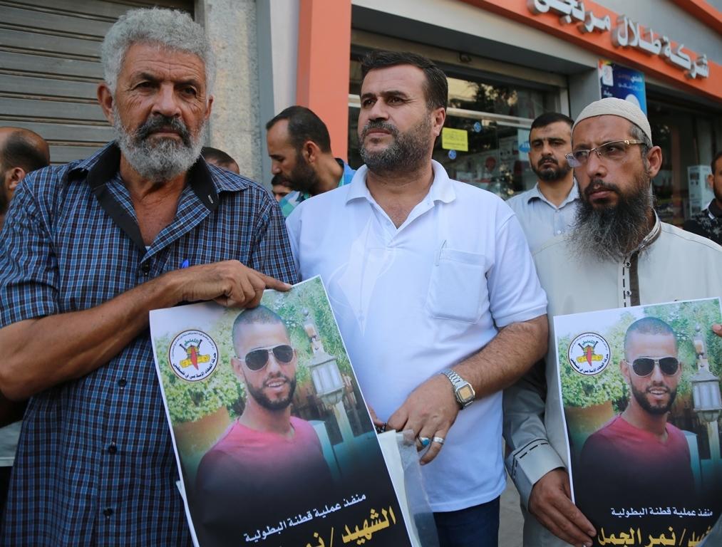 قفة في مدينة غزة احتفاء بالعملية البطولية بالقدس  (39780870) 