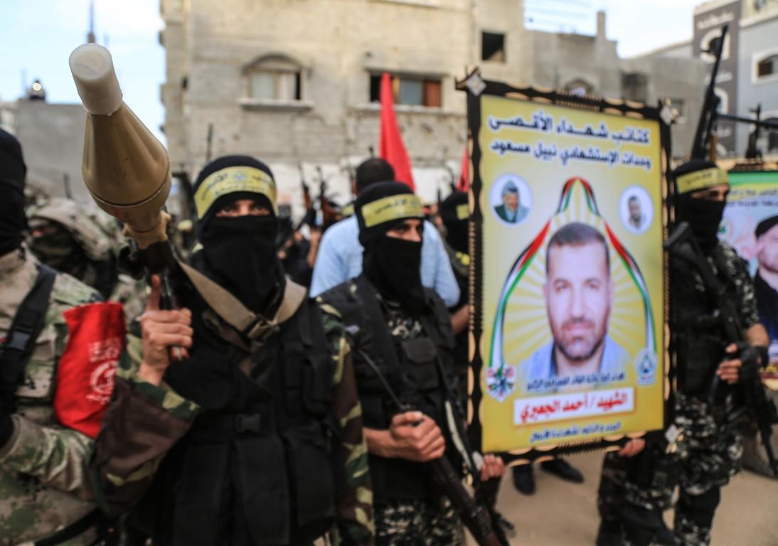 مسير عسكري لفصائل المقاومة بغزة في الذكرى الخامسة لاغتيال الجعبري (1) 