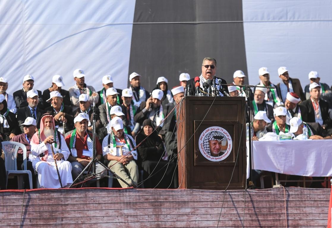 مهرجان احياء الذكرى الـ13 لاستشهاد الرئيس ياسر عرفات في ساحة الكتيبة غرب مدينة غزة (37683729) 