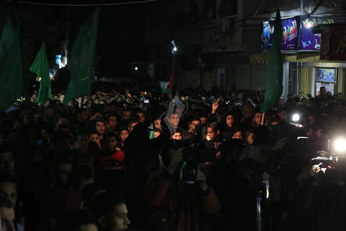 حماس تنظم مسيرة نصرة للقدس ورفضاً للقرارات الأمريكية شمال القطاع (38601222) 