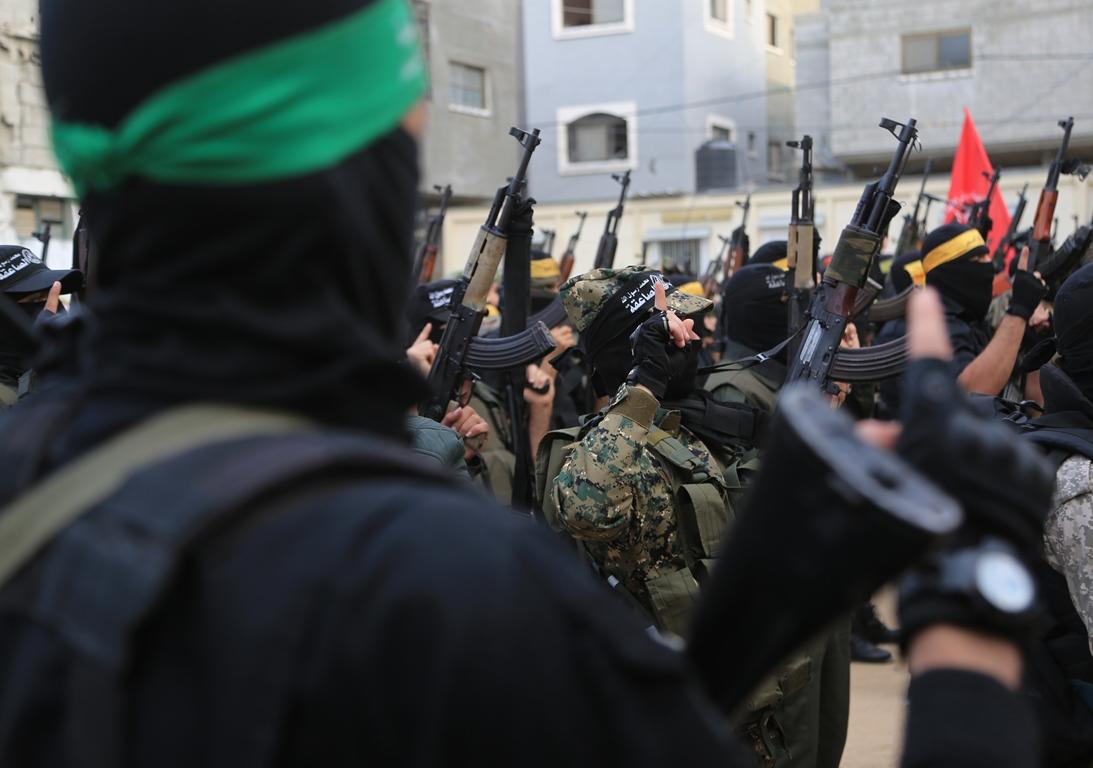 مسير عسكري لفصائل المقاومة بغزة في الذكرى الخامسة لاغتيال الجعبري (37552642) 