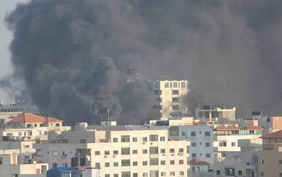 حريق في غزة