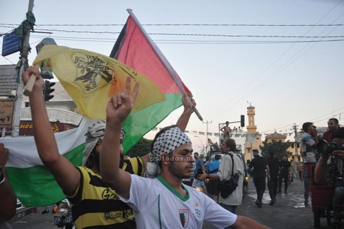 فرحة الشارع في غزة بوقف النار