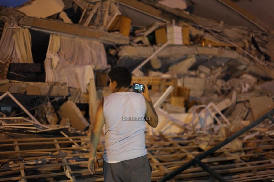 قصف برج الظافر 4 بالكامل
