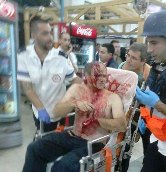 Bir yerleşimci bıçakladı süreç yaralandı