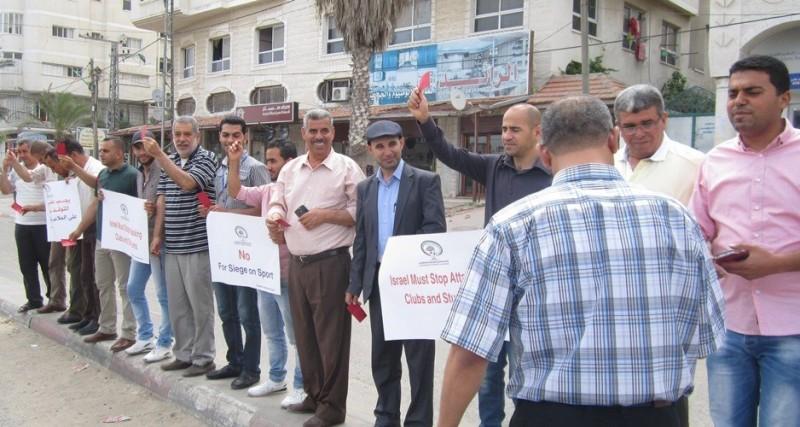 الوقفة التضامنية لتعليق عضوية إسرائيل بالفيفا (15)