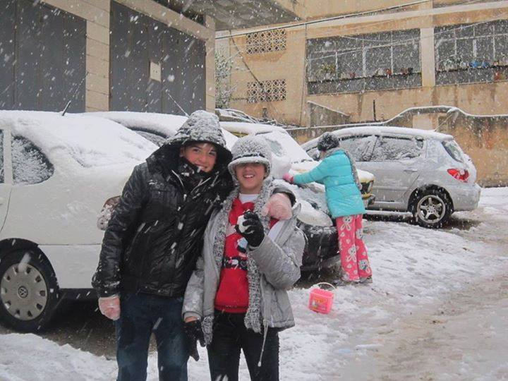 الثلوج على نابلس