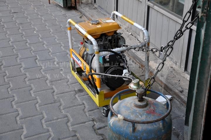 مولدات الكهرباء تعمل على الغاز