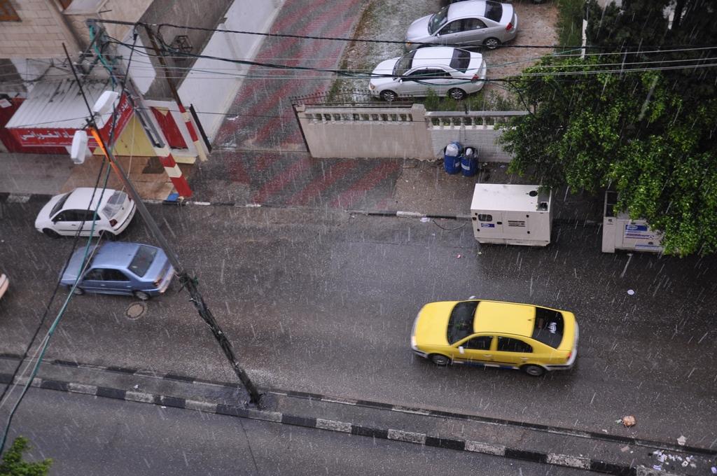 امطار في غزة 2