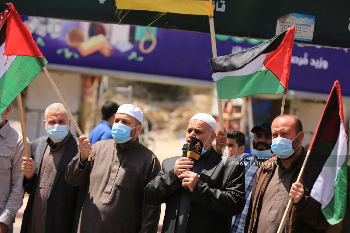 الجهاد الإسلامي في غزة تنظم وقفة اسنادية للمرابطين في المسجد الأقصى (12).JPG