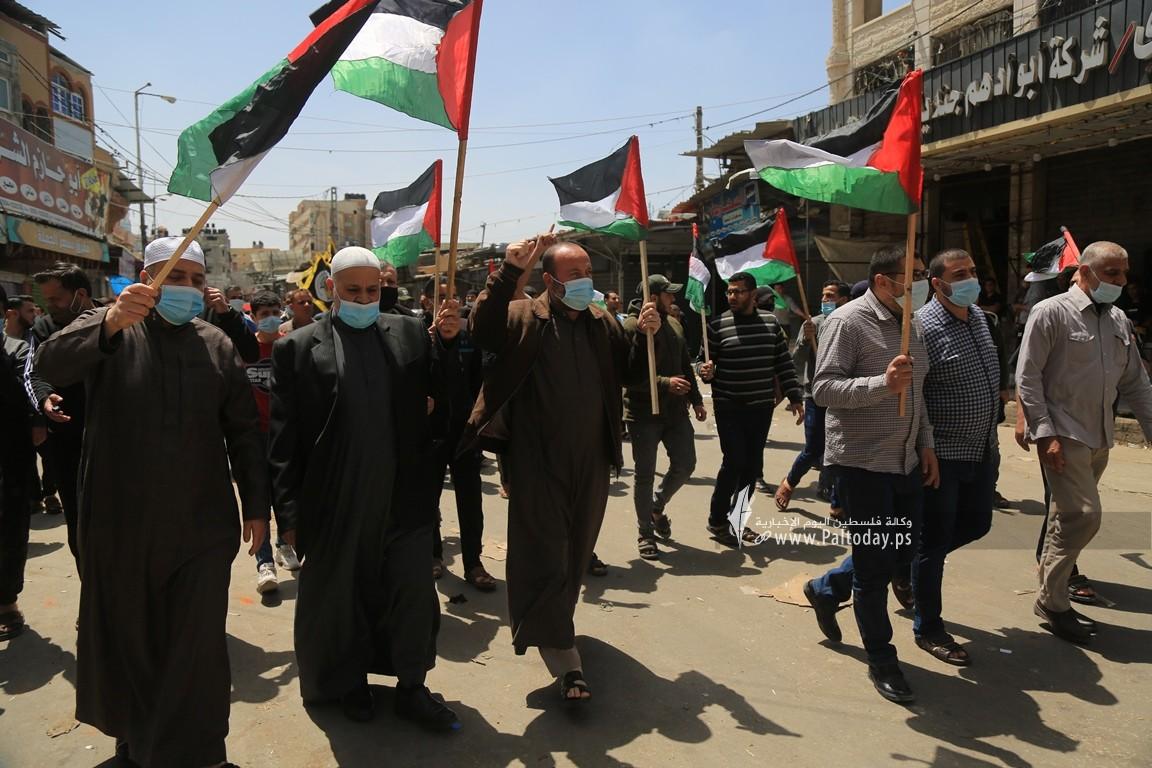 الجهاد الإسلامي في غزة تنظم وقفة اسنادية للمرابطين في المسجد الأقصى (4).JPG