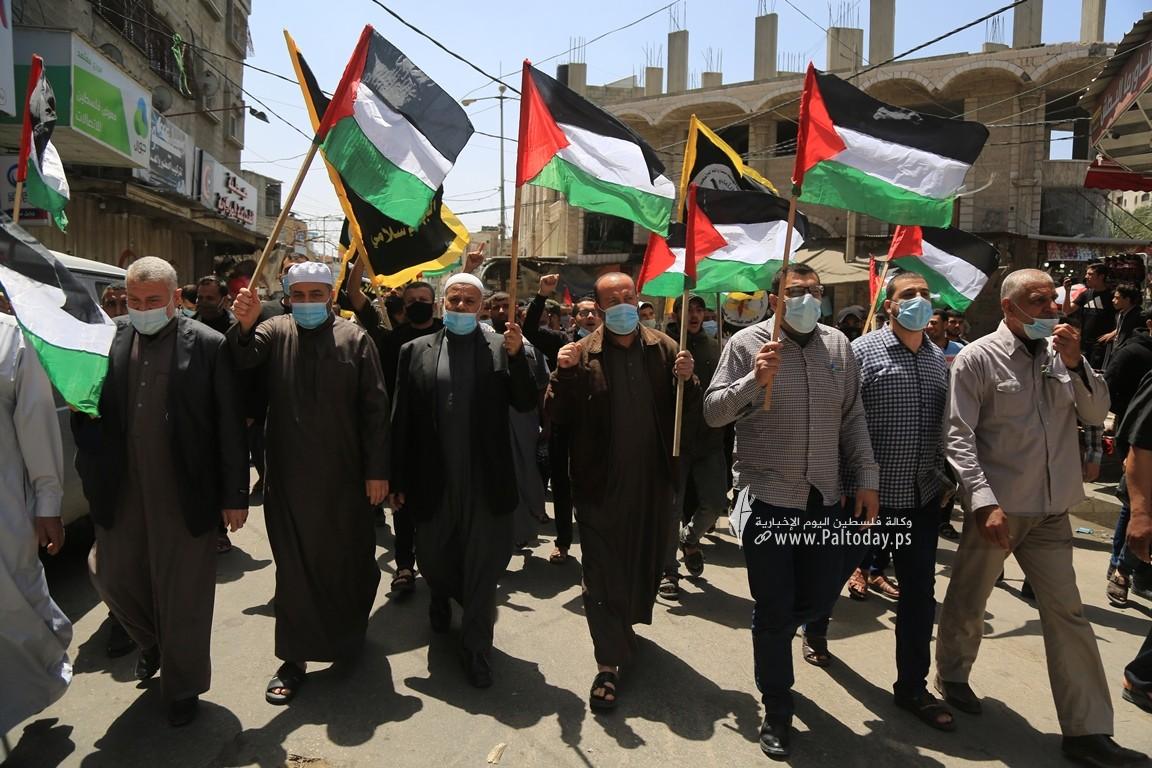 الجهاد الإسلامي في غزة تنظم وقفة اسنادية للمرابطين في المسجد الأقصى (7).JPG