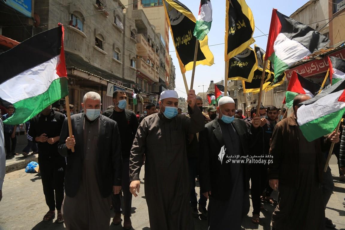الجهاد الإسلامي في غزة تنظم وقفة اسنادية للمرابطين في المسجد الأقصى (9).JPG