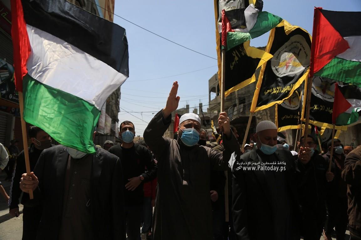 الجهاد الإسلامي في غزة تنظم وقفة اسنادية للمرابطين في المسجد الأقصى (8).JPG