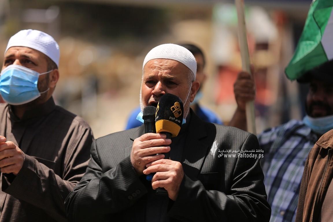 الجهاد الإسلامي في غزة تنظم وقفة اسنادية للمرابطين في المسجد الأقصى (13).JPG