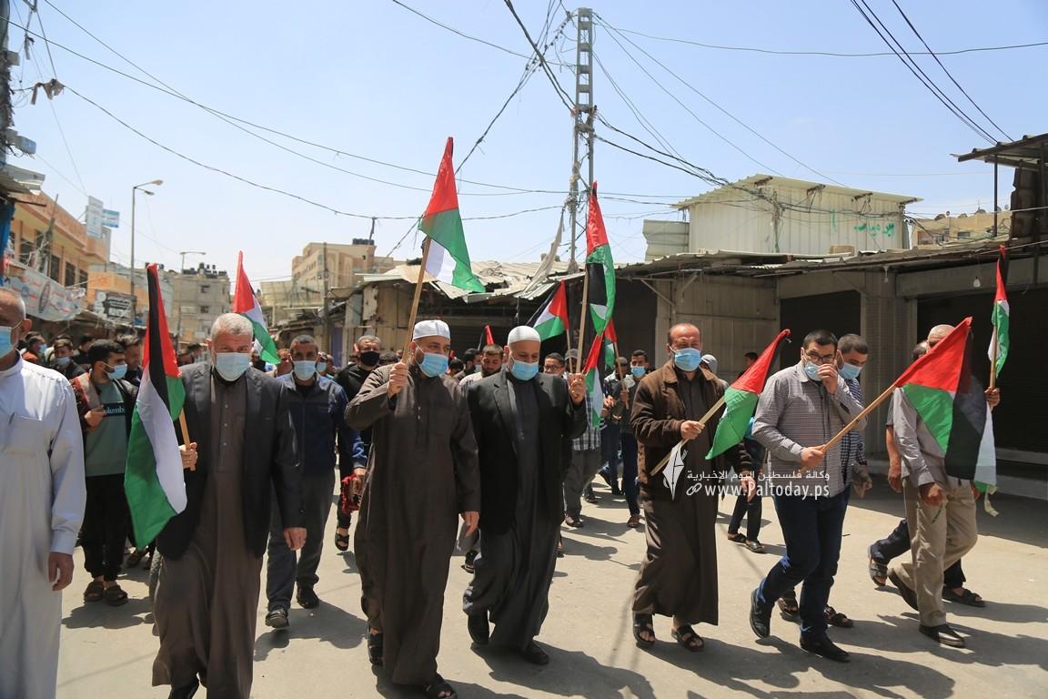 الجهاد الإسلامي في غزة تنظم وقفة اسنادية للمرابطين في المسجد الأقصى (2).JPG