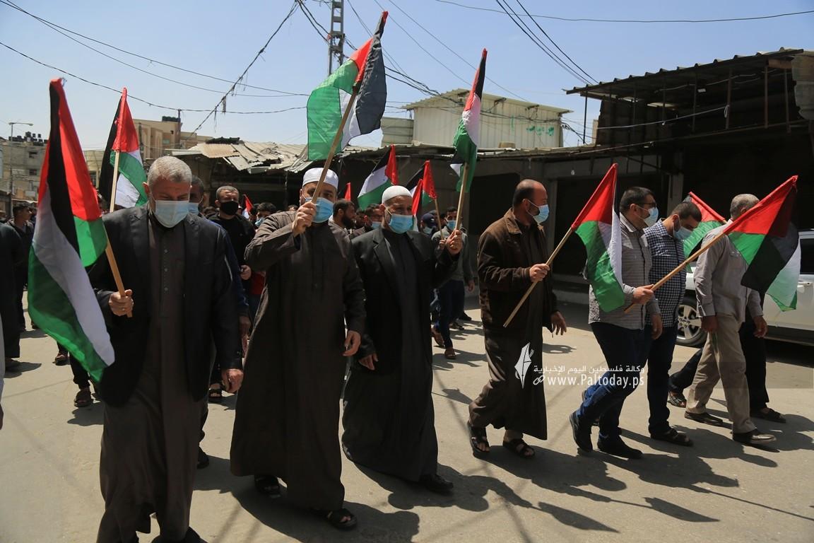 الجهاد الإسلامي في غزة تنظم وقفة اسنادية للمرابطين في المسجد الأقصى (3).JPG