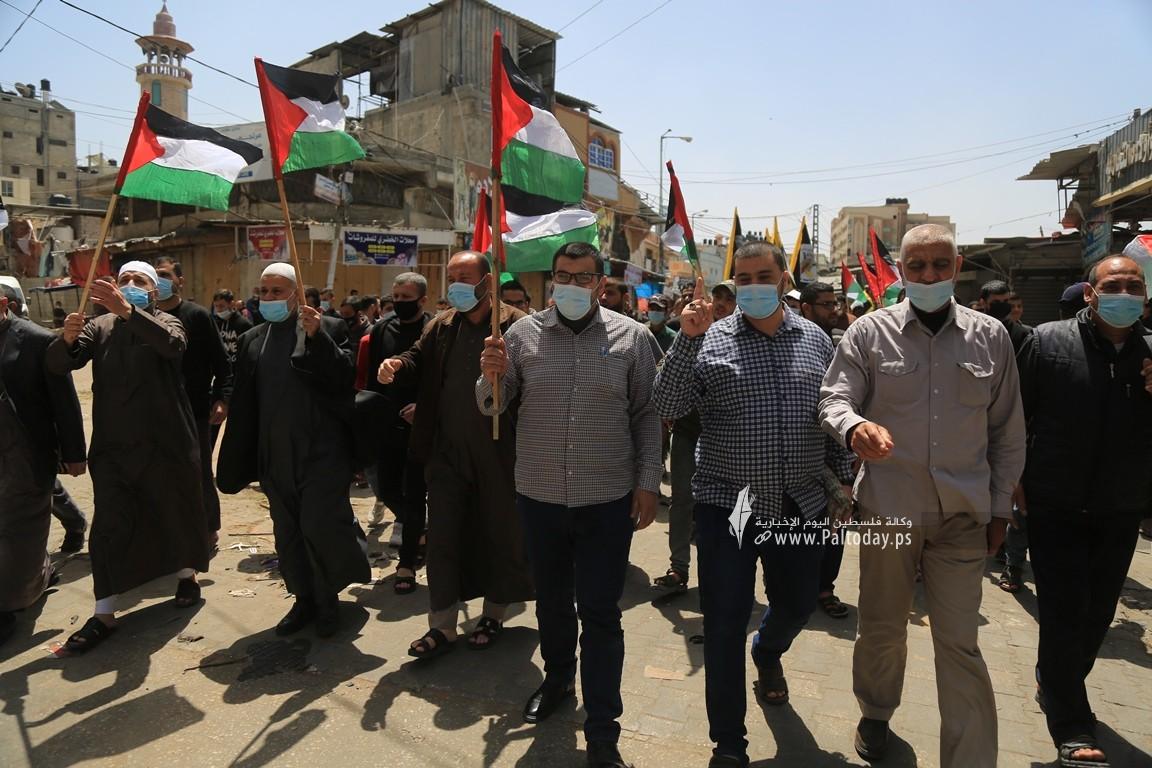 الجهاد الإسلامي في غزة تنظم وقفة اسنادية للمرابطين في المسجد الأقصى (5).JPG