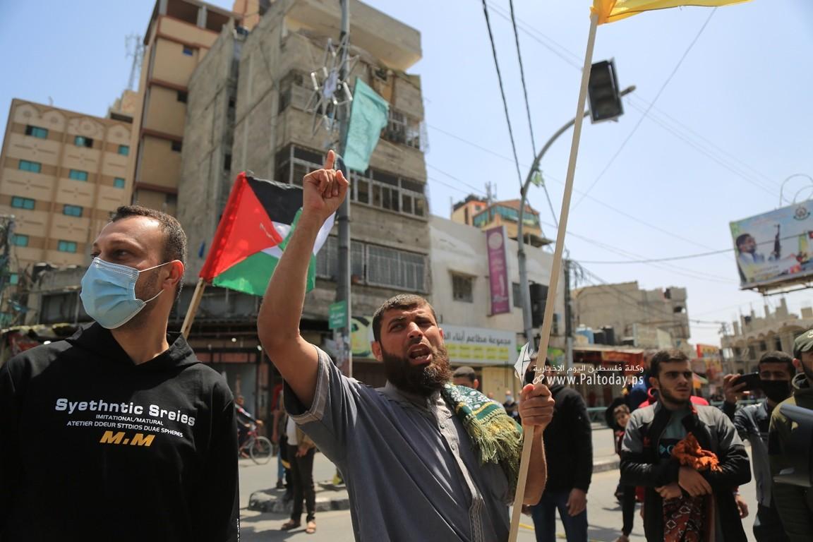 الجهاد الإسلامي في غزة تنظم وقفة اسنادية للمرابطين في المسجد الأقصى (10).JPG