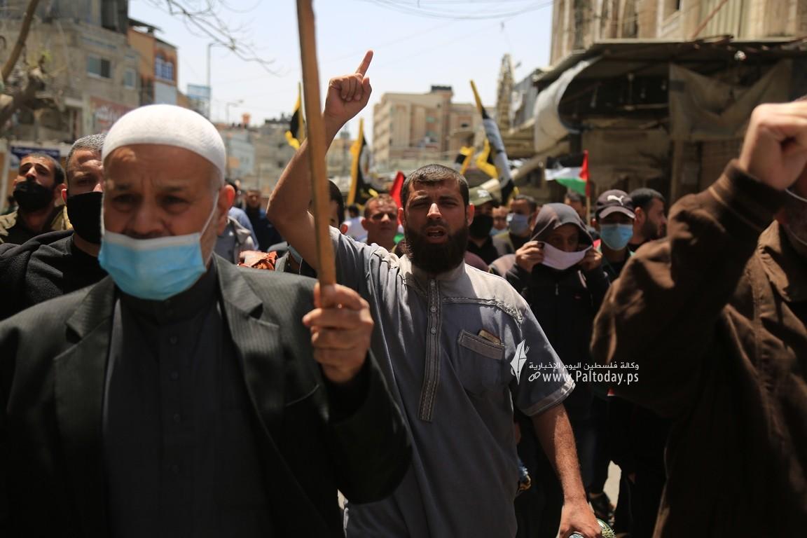 الجهاد الإسلامي في غزة تنظم وقفة اسنادية للمرابطين في المسجد الأقصى (6).JPG