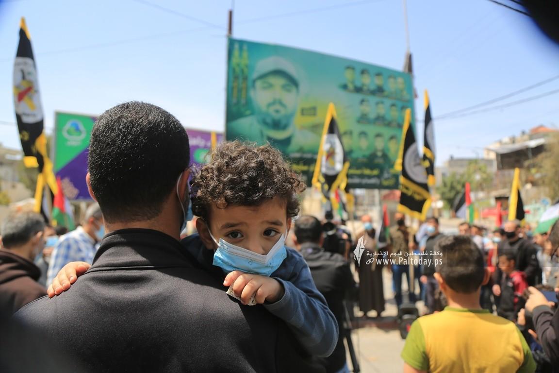 الجهاد الإسلامي في غزة تنظم وقفة اسنادية للمرابطين في المسجد الأقصى (16).JPG